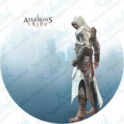 Disque alimentaire en azyme personnalisé du jeu Assassin's Creed