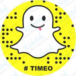 Disque alimentaire en azyme personnalisable Snapchat