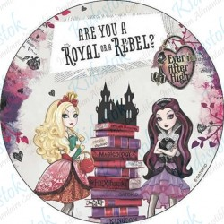 Disque alimentaire en azyme Ever After High
