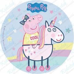 Disque azyme Peppa Pig Licorne