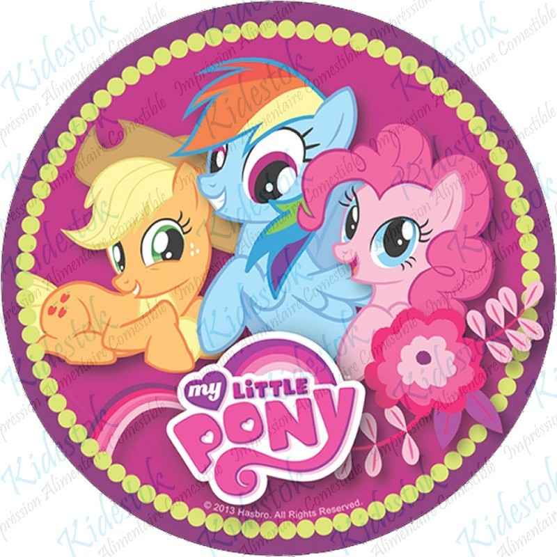 Impression disque g teau alimentaire azyme my little pony kidestok diam tre 20 cm - My little pony en humain ...