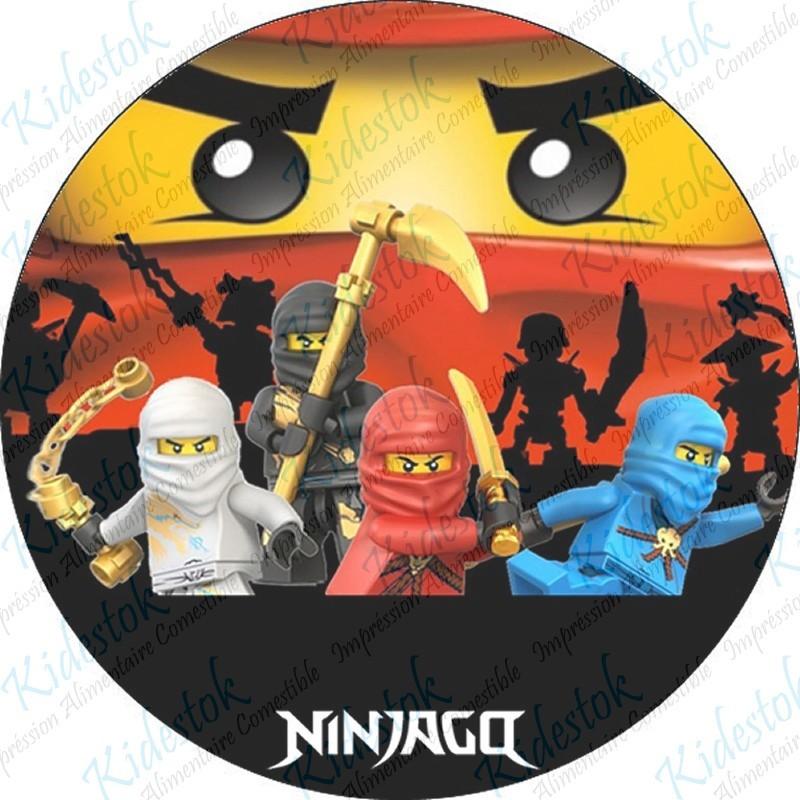 Mini Ninjas Decoration Gateau Disque Azyme Comestible Anniversaire